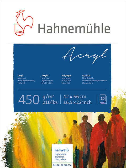 Hahnemuhle Acrylic Paint Board 450gsm 42X56cm