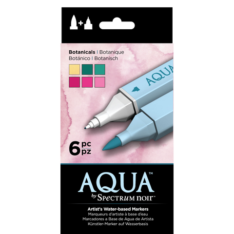 Aqua Markers By Spectrum Noir 6 Pack