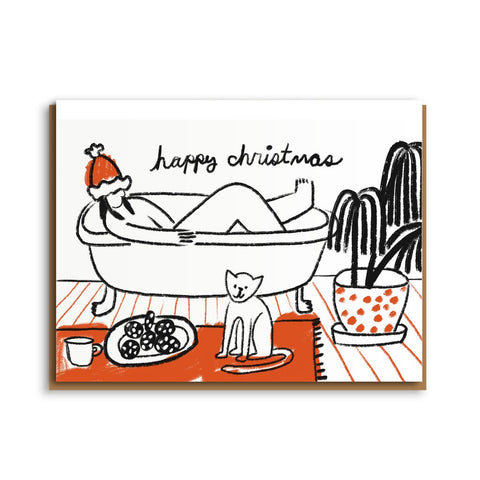 Christmas Bath Card