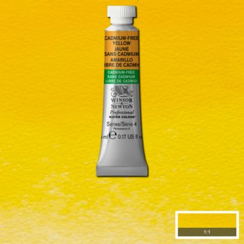 W&N - Artist Water Colour 5ml Cadmium-Free Yellow