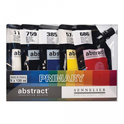 Abstract Acrylic Primary Set 5x120ml