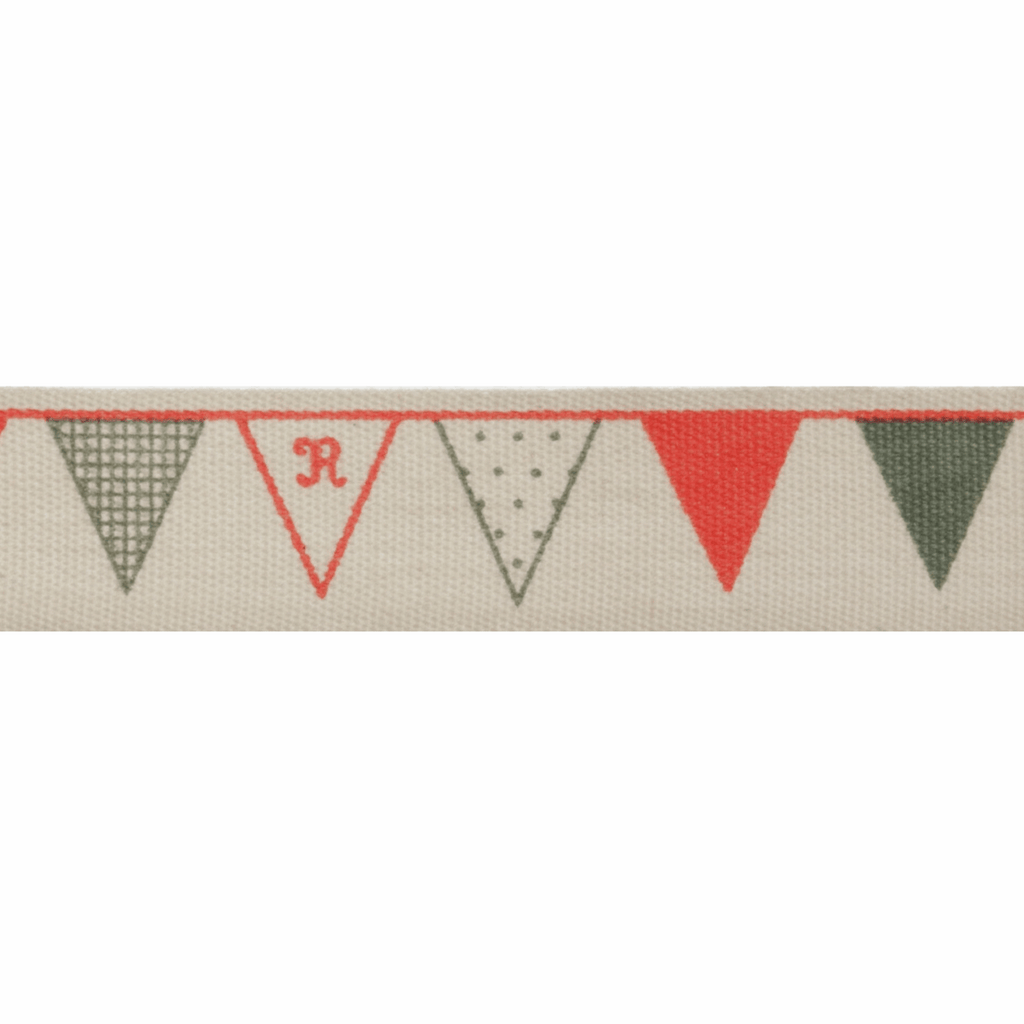 Natural Trim- 5m x 15mm - Bunting - Red & Green