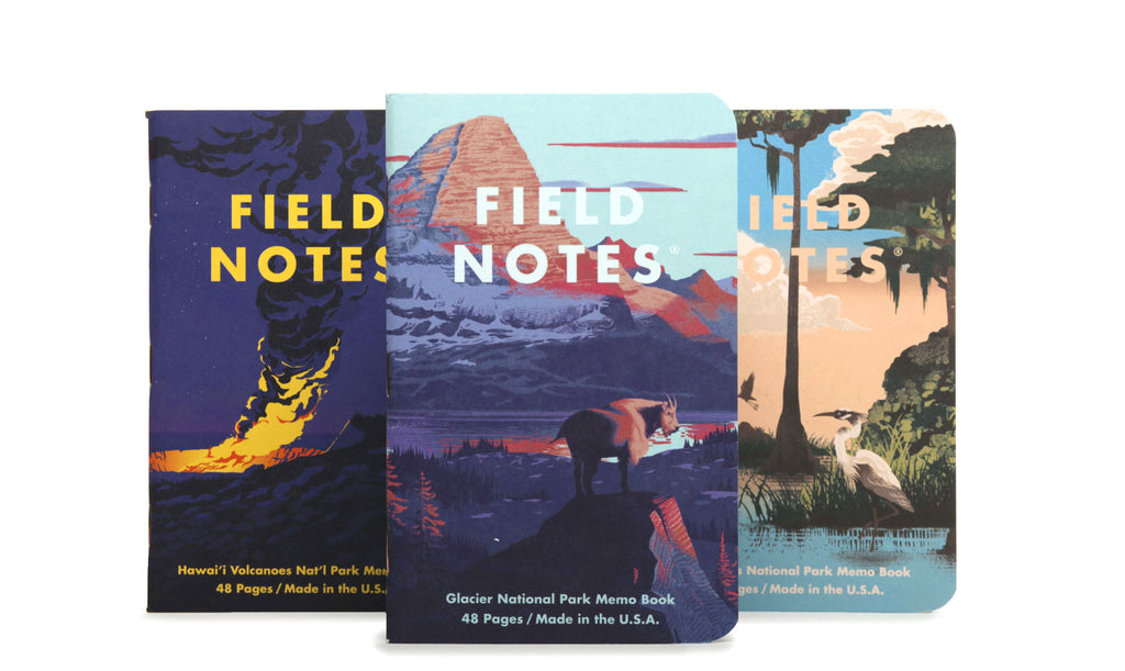 FIELD NOTES National Parks Series F 3-Pack