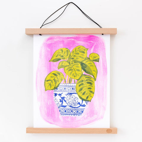 Yellow Owl Workshop Plant Riso Print