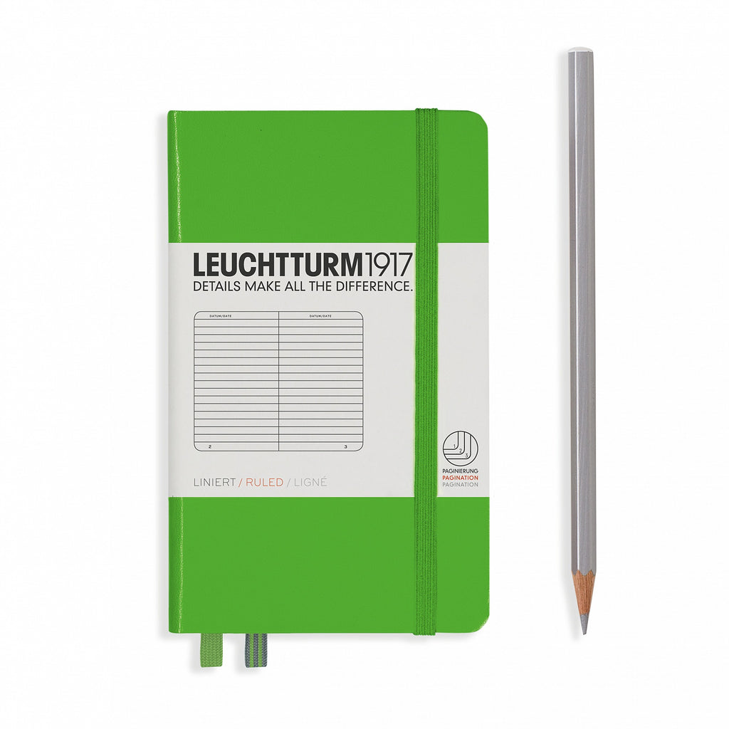 Leuchtturm 1917 Notebook Pocket Ruled Fresh Green