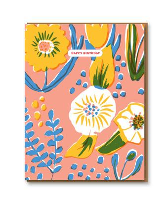 Saturated Flower Birthday card
