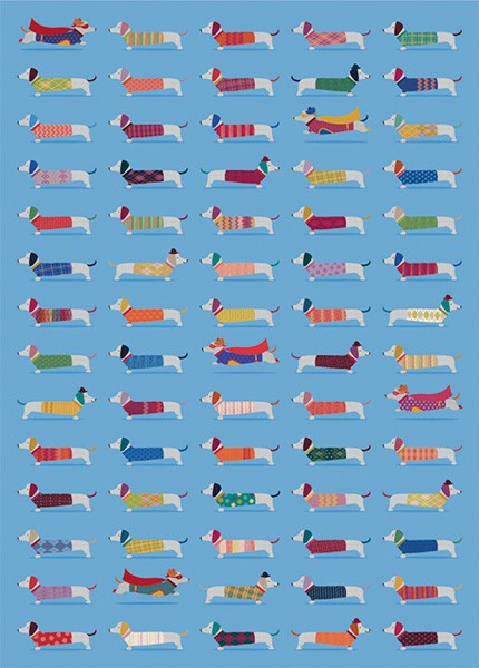 Super Frank Sausage Dog Wrapping Paper