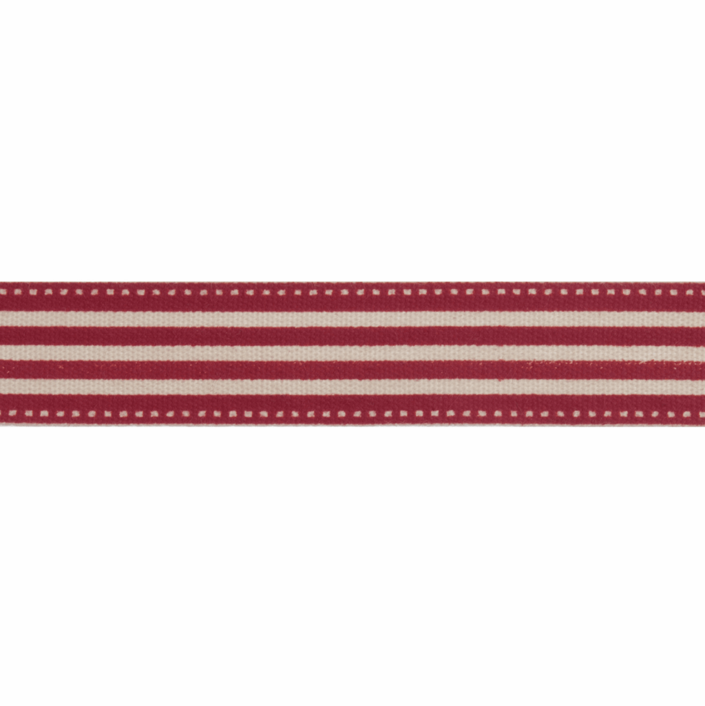 Natural Trim - 5m x 15mm - Stripes - Red