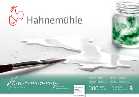"Hahnemuhle Harmony Watercolour 300gsm Hot Pressed 7""X10"""