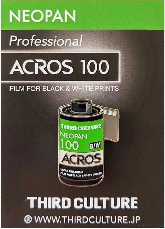 Acros 100 35mm Film Pin Badge