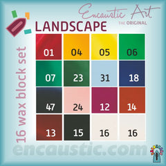 Encaustic Art - Landscape Selection Wax Blocks
