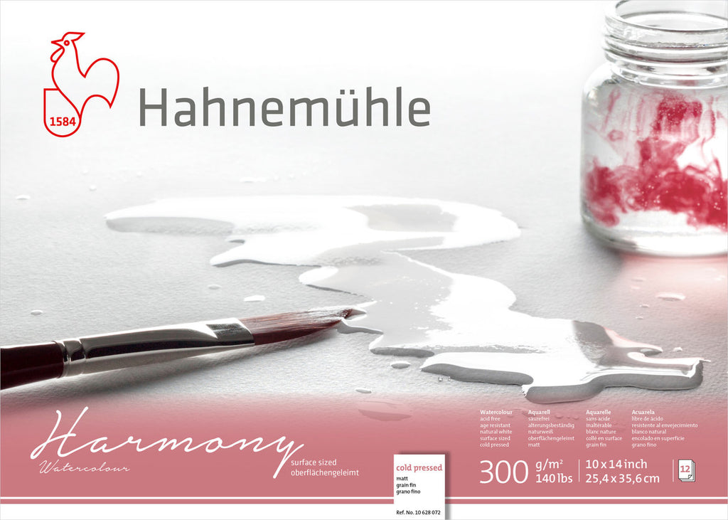 "Hahnemuhle Harmony Watercolour 300gsm Cold Pressed 10""X14"""