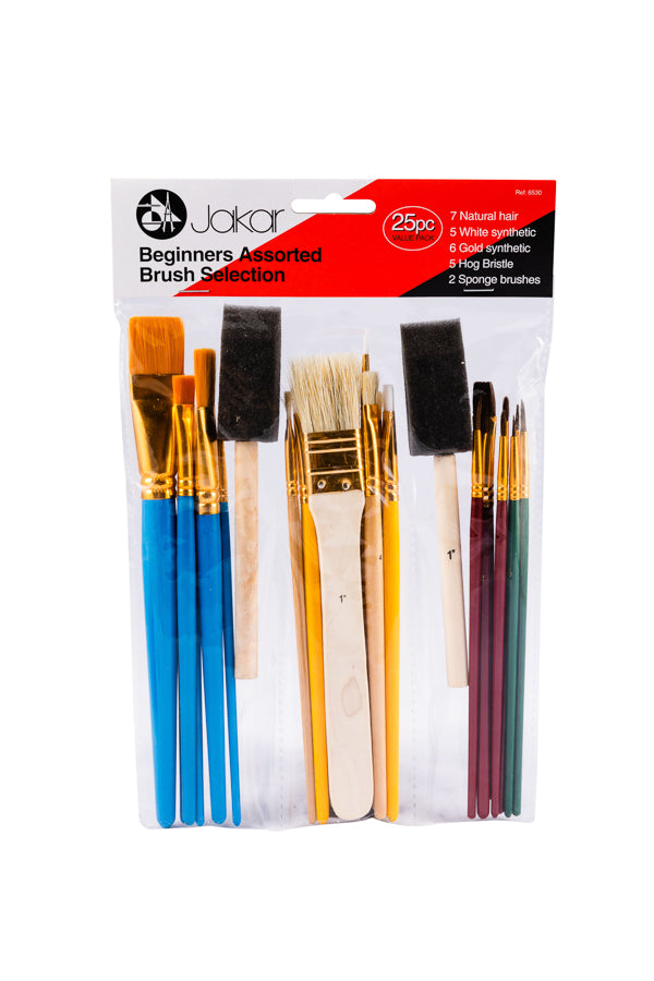 Beginners Assorted Brush Selection 25 Piece