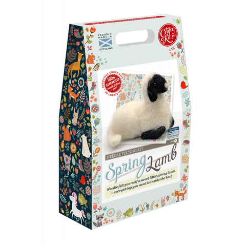 Spring Lamb Needle Felting Kit