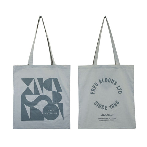 Fred Aldous Tote Bag x Clare Birtwistle - Light Grey