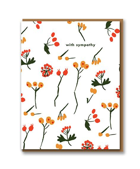 Berry Sympathy Card