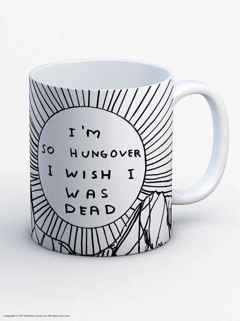 David Shrigley I'm So Hungover I Wish I Was Dead Boxed Mug