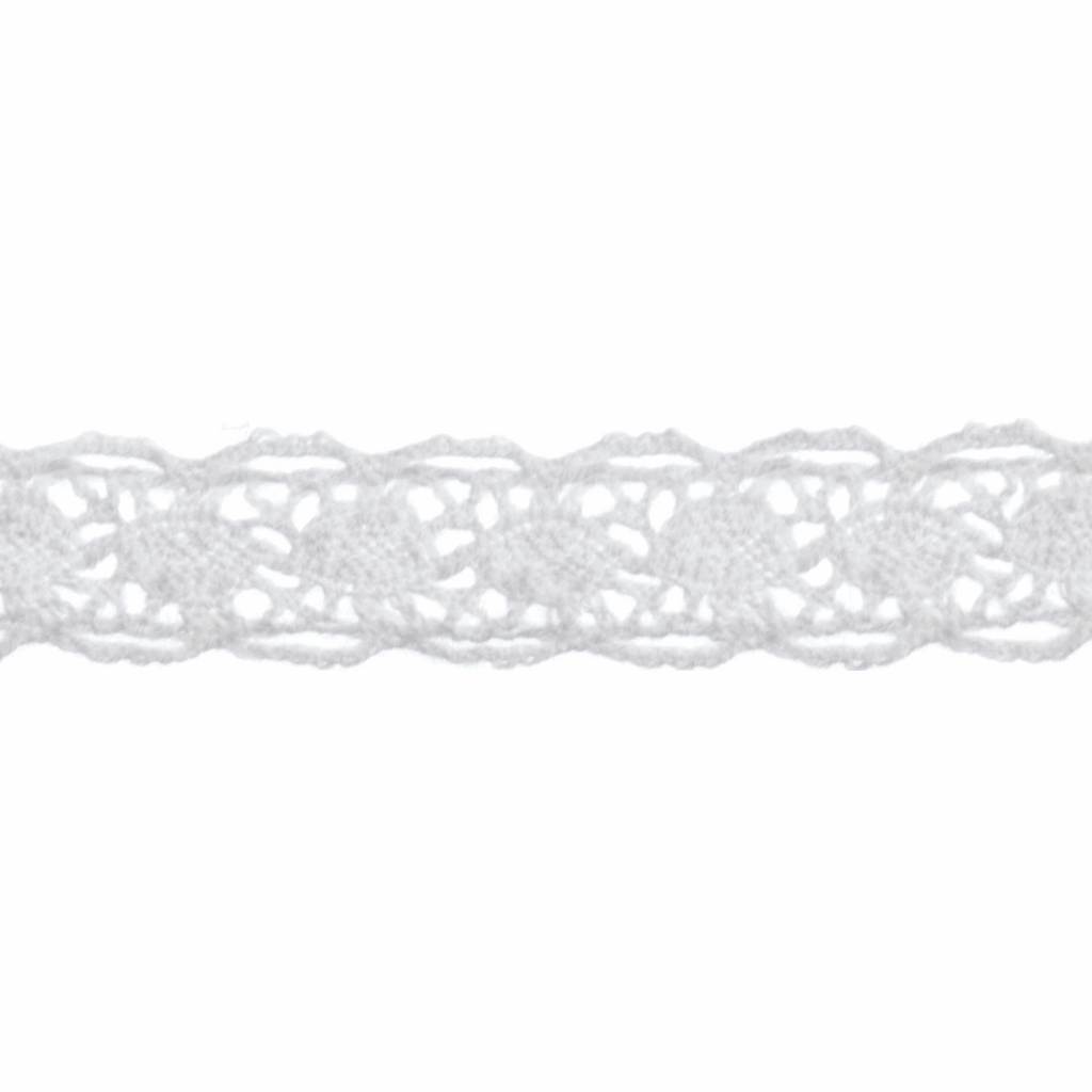 Cotton Lace 012 - 5m x 10mm - White
