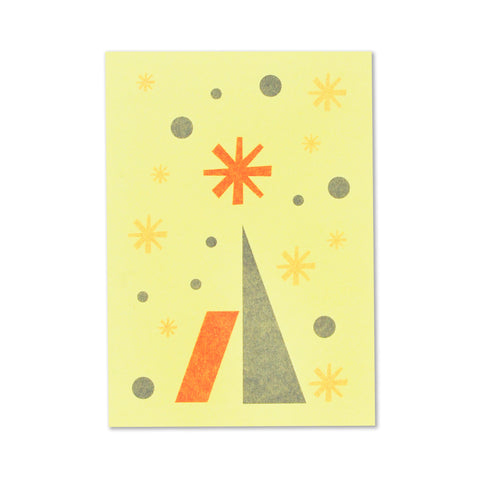 Fred Aldous Christmas Card Sorbet Yellow