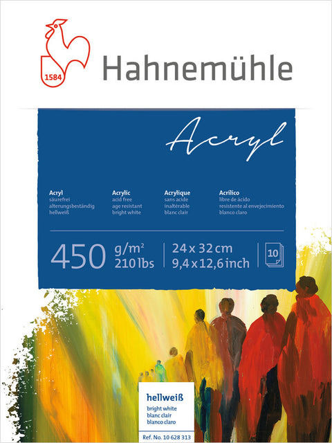Hahnemuhle Acrylic Paint Board 450gsm 24X32cm