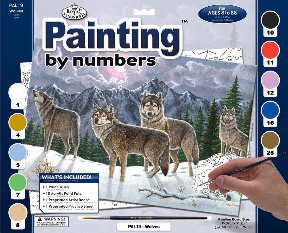 Paint By Numbers Adult Large - Wolves