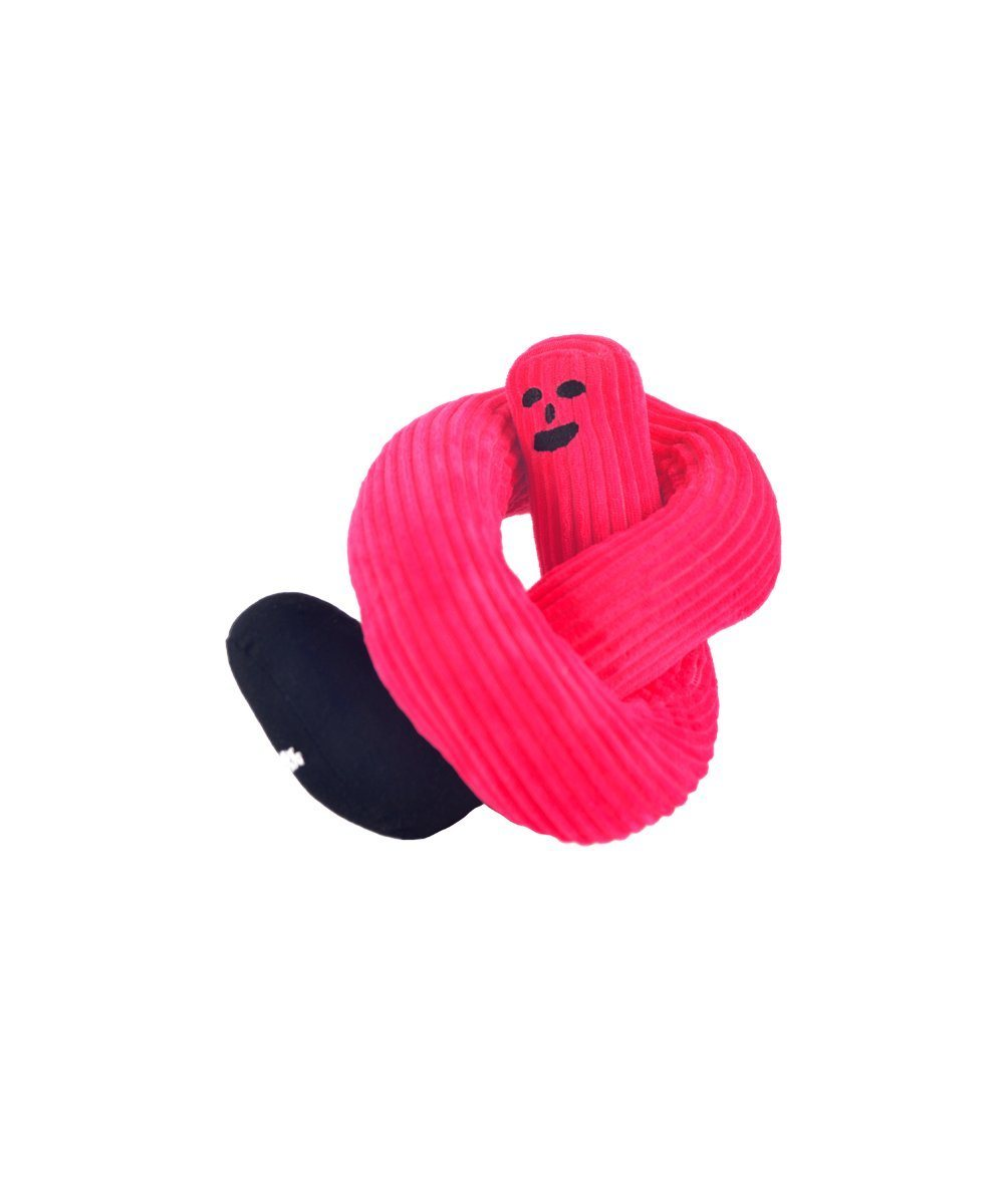 Friendly Door Snake Toy Thing Pink
