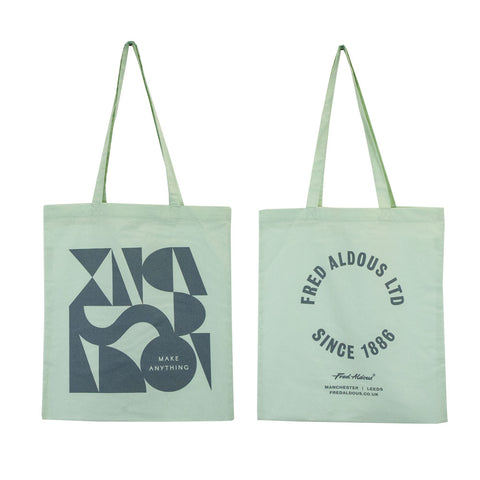 Fred Aldous Tote Bag x Clare Birtwistle - Pastel Mint