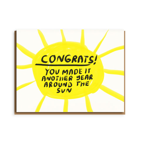 Around the Sun Congrats Card