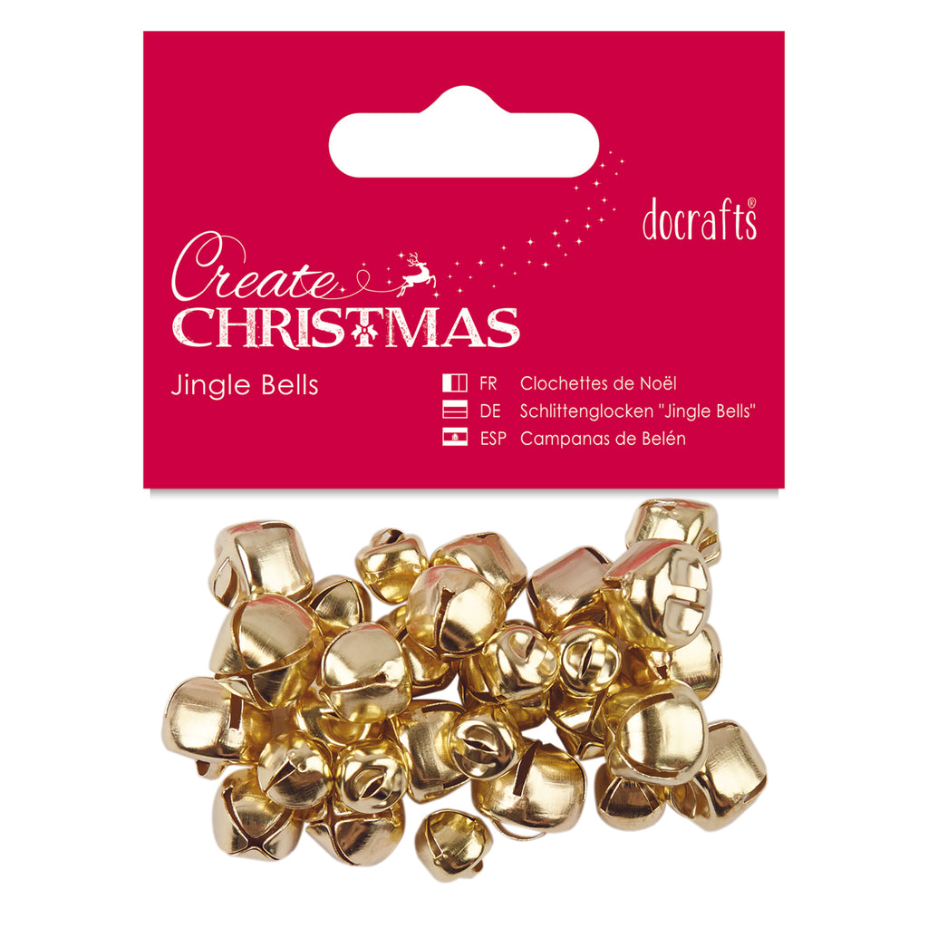 Create Christmas - Assorted Gold Jingle Bells x30