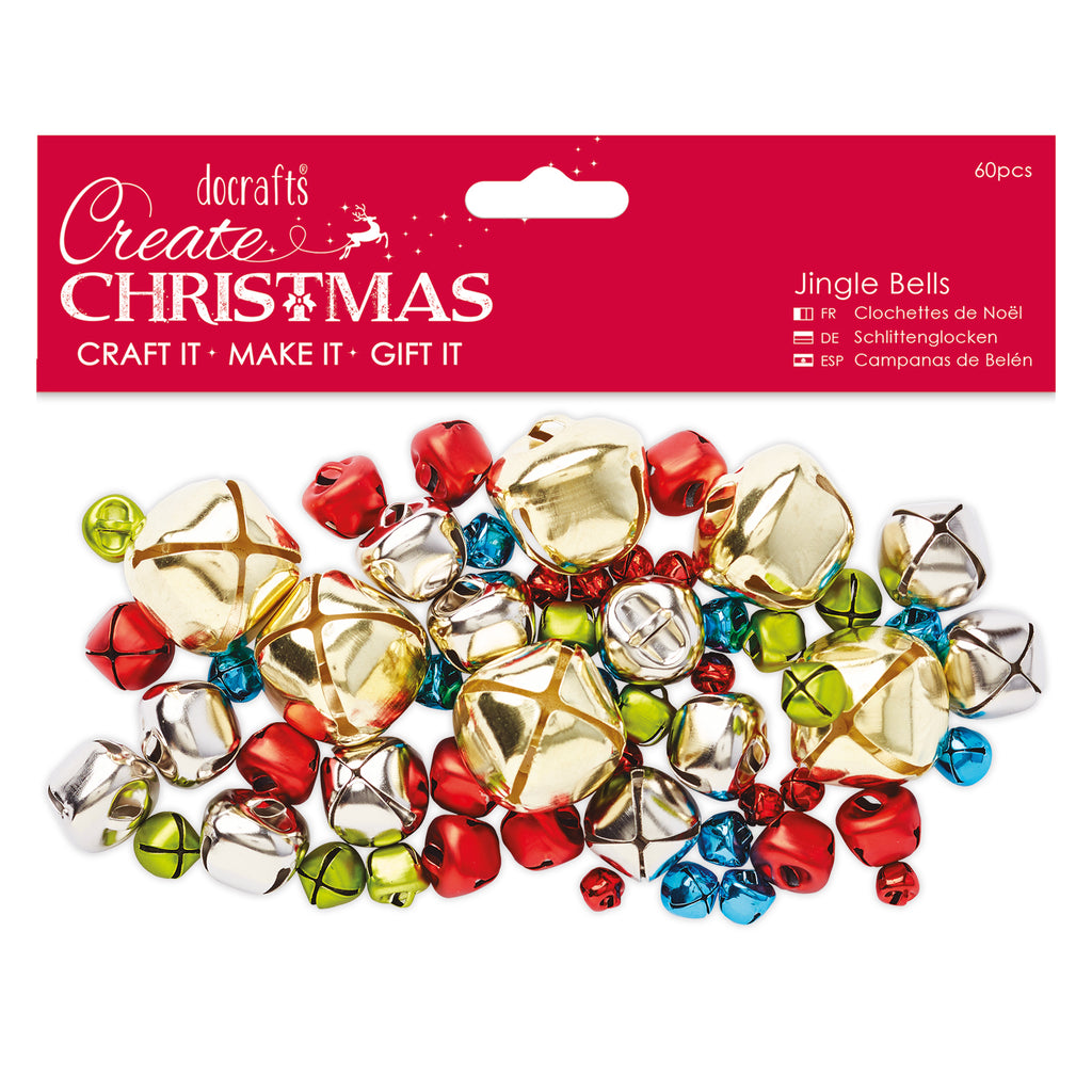 Create Christmas - Assorted Jingle Bells x60