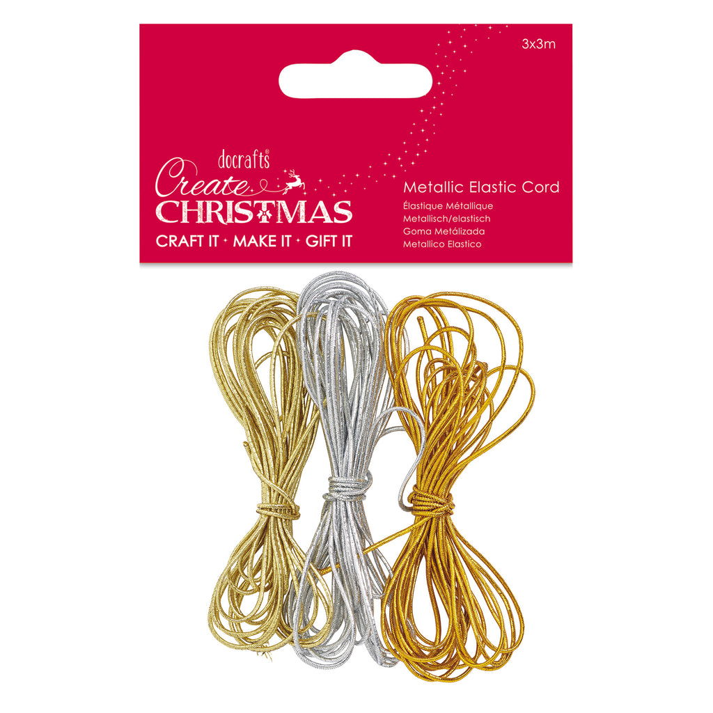 Metallic Elastic Cord (3x3m) - Create Christmas