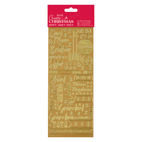 Create Christmas - Outline Stickers - Contemporary Xmas Relations
