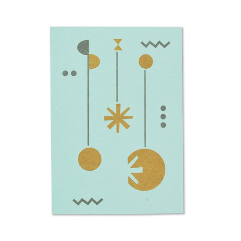 Fred Aldous Christmas Card Aqua