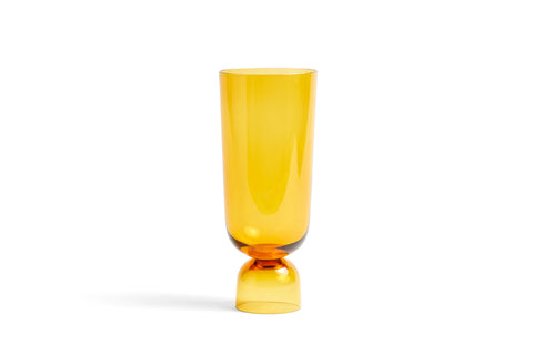 HAY Bottoms Up Vase Large Amber