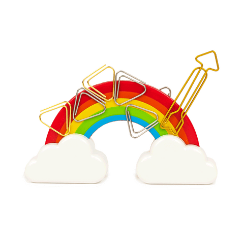 Rainbow Paperclip Holder
