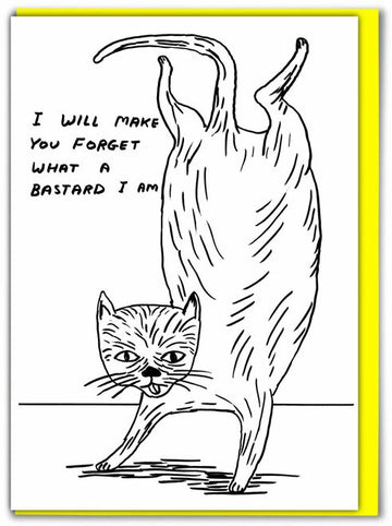 Bastard Cat David Shrigley Birthday Card