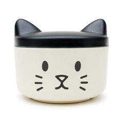 treats tub with a cats face