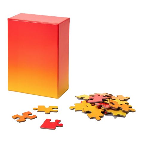 Areaware -  Small Gradient Puzzle - Red/Yellow