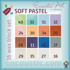 Encaustic Art - Soft Pastels Selection of Wax Blocks