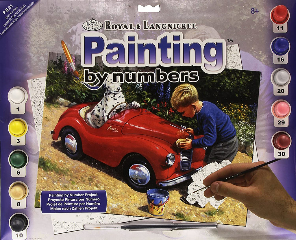 Paint By Numbers Junior Large Spot's Car Wash