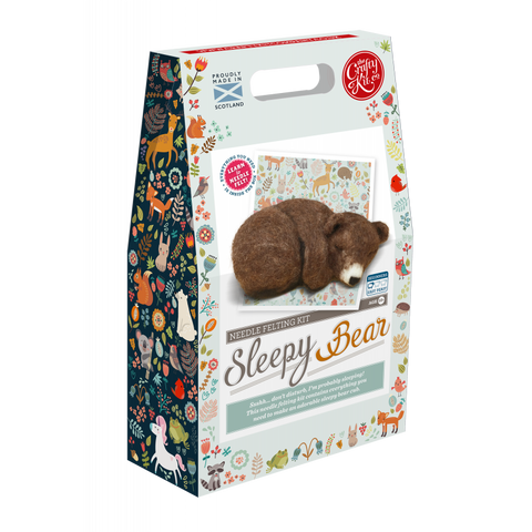 Sleepy Brown Bear Needle Felting Kit