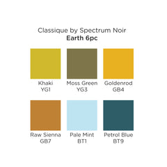 Spectrum Noir Classique Set of 6 Earth