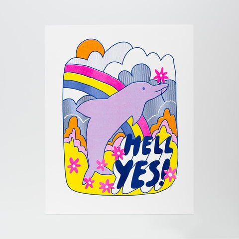 Hell Yes! - Risograph Print