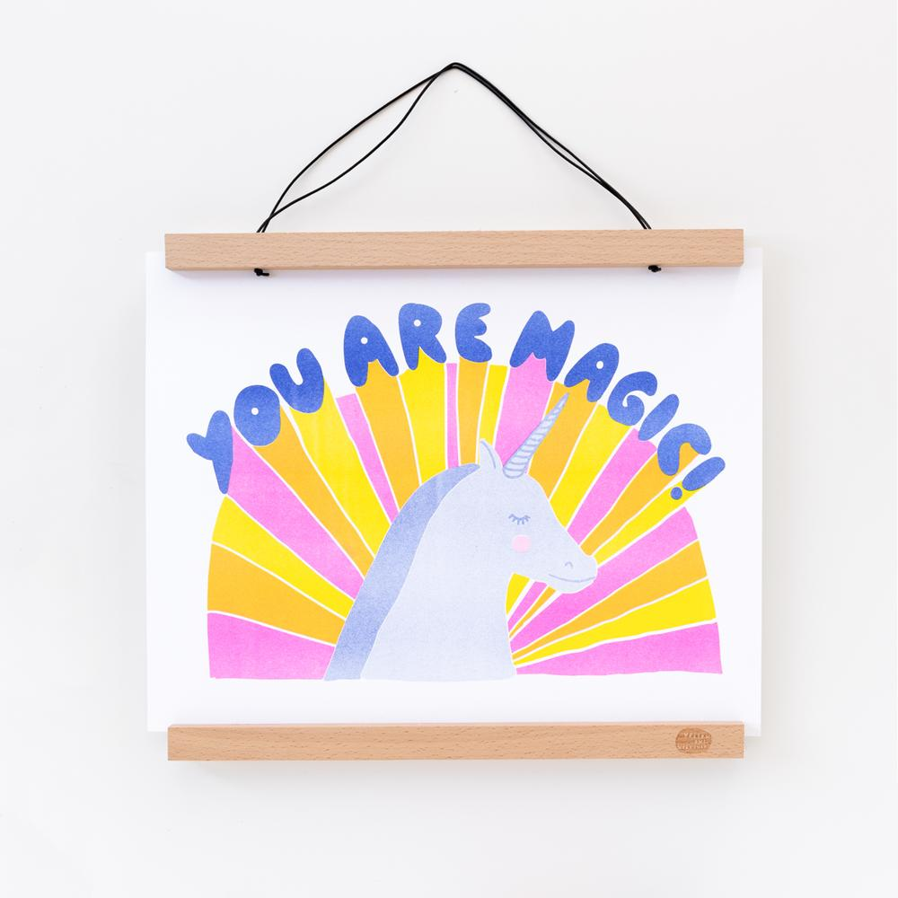 You Are Magic! - Risograph print