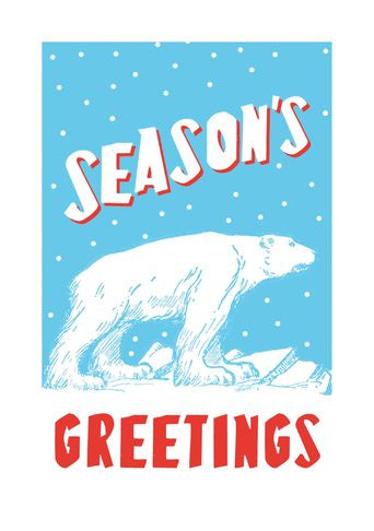 Season's Greetings Polar Bear Card