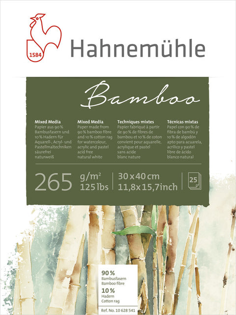 Hahnemuhle Bamboo-Mixed Media 265gsm - 30X40cm
