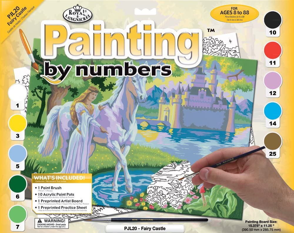 Paint By Numbers Junior Large Fairy Castle