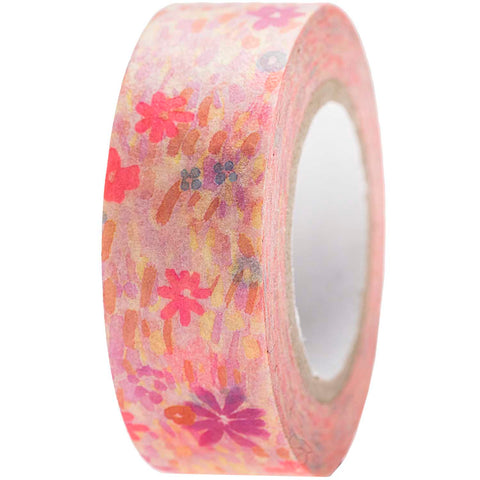Rico Washi Tape -Flower Meadow Pink