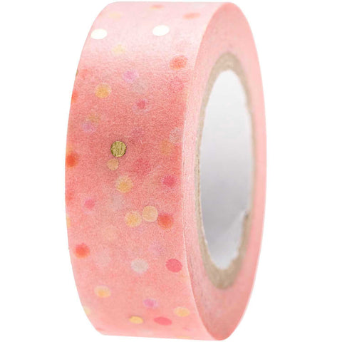 Rico Washi Tape - Crafted Dots Pink