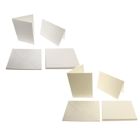 5x7 Scalloped Card Blanks 300gsm 12Pk